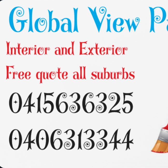 Global view painting | store | 41 Tanami St, Point Cook VIC 3030, Australia | 0415636325 OR +61 415 636 325