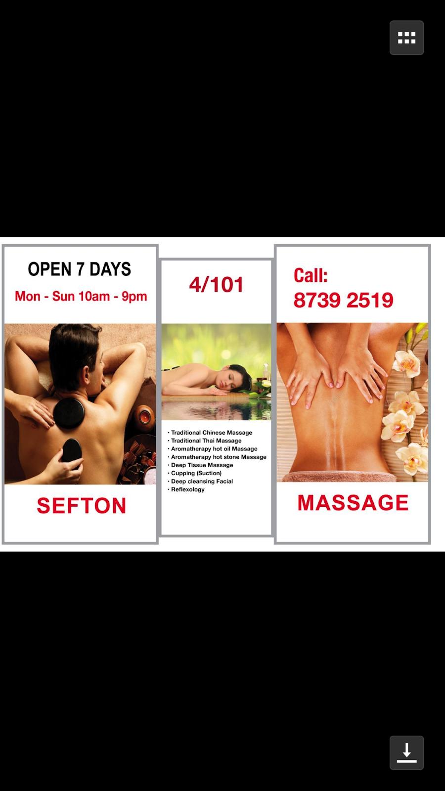 Sefton Massage Centre | spa | 4/101 Clapham Rd, Sefton NSW 2162, Australia | 0287392519 OR +61 2 8739 2519