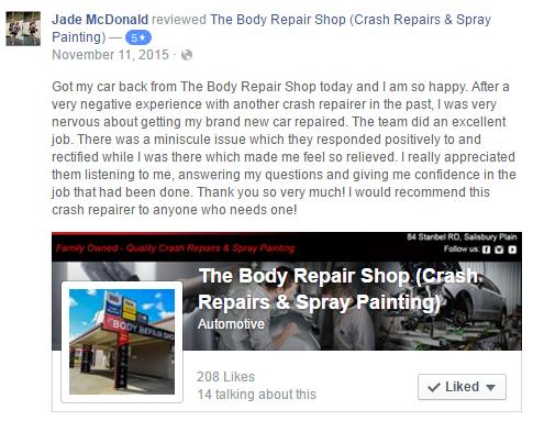 The Body Repair Shop - Car repair   84 Stanbel Rd, Salisbury Plain