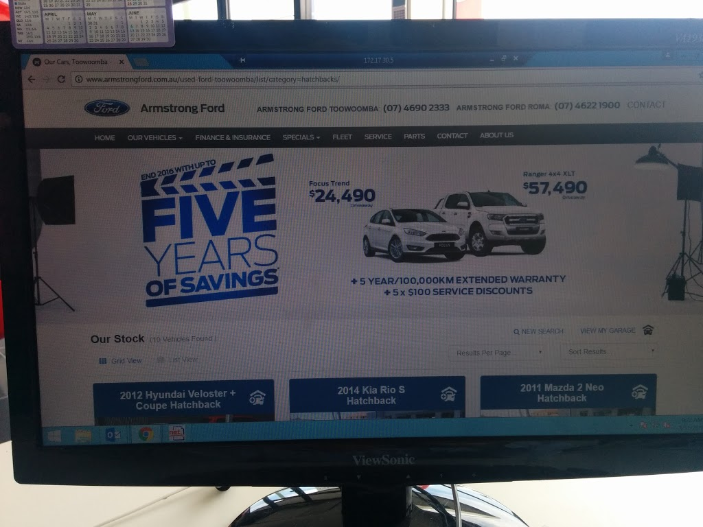 Armstrong Ford - Roma | car dealer | 24 Hawthorne St, Roma QLD 4455, Australia | 0746221900 OR +61 7 4622 1900