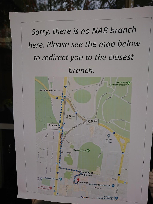 NAB branch | bank | University Of Melbourne, Royal Parade, Parkville VIC 3052, Australia | 132265 OR +61 132265