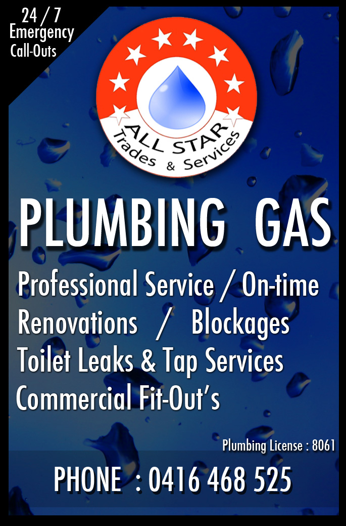 All Star Trades & Services Plumbing | plumber | 27 Southport St, West Leederville WA 6007, Australia | 0416468525 OR +61 416 468 525