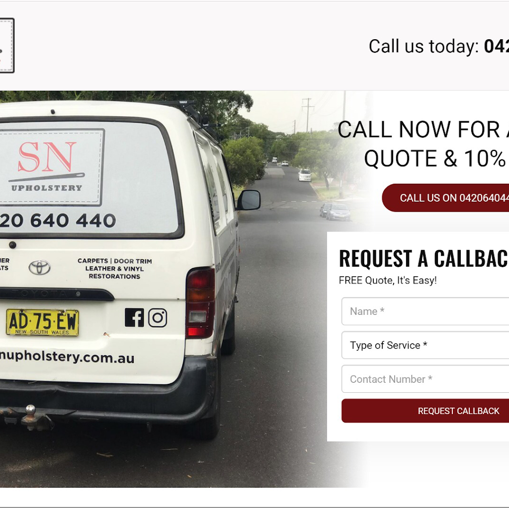 SN Upholstery. Auto And Marine | furniture store | 44 Cragg St, Condell Park NSW 2200, Australia | 0420640440 OR +61 420 640 440