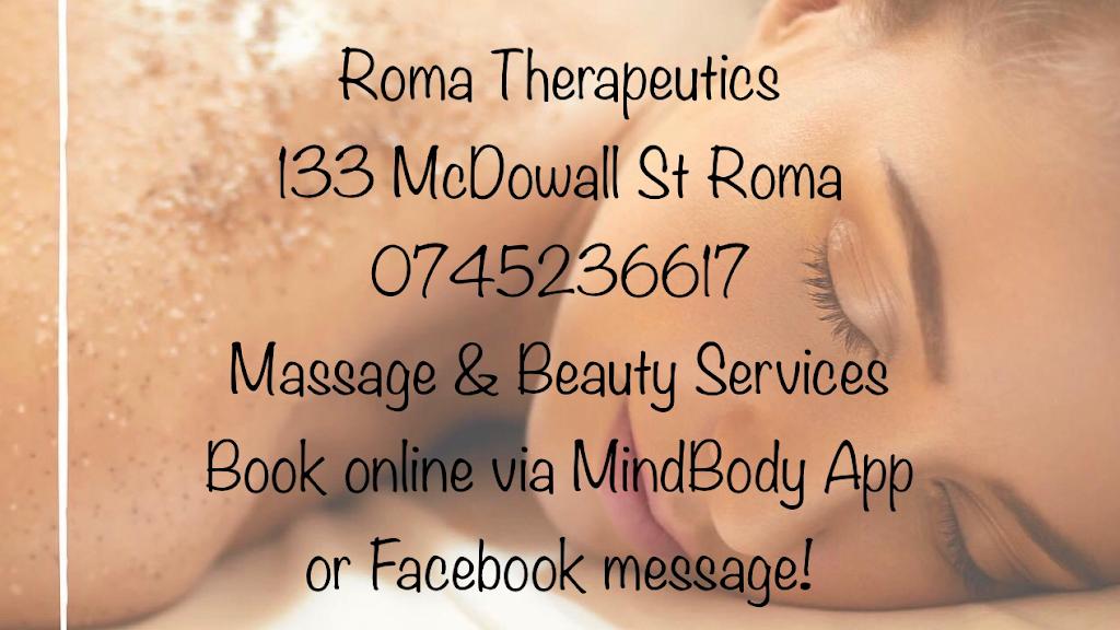 Roma Therapeutics | point of interest | 133 McDowall St, Roma QLD 4455, Australia | 0745236617 OR +61 7 4523 6617