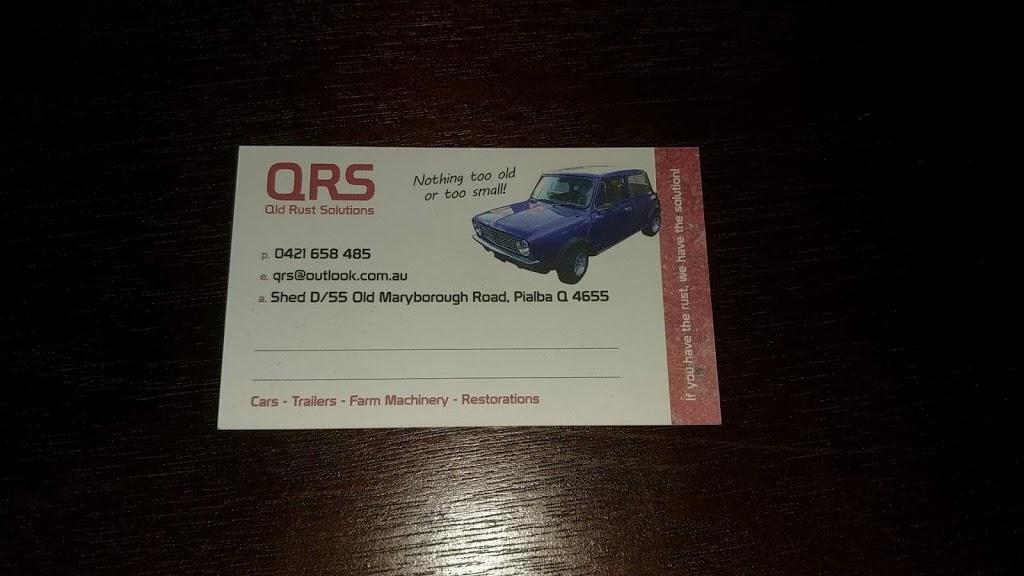 Queensland Rust Solutions | car repair | Unit 2/55 Old Maryborough Rd, Pialba QLD 4655, Australia | 0421658485 OR +61 421 658 485
