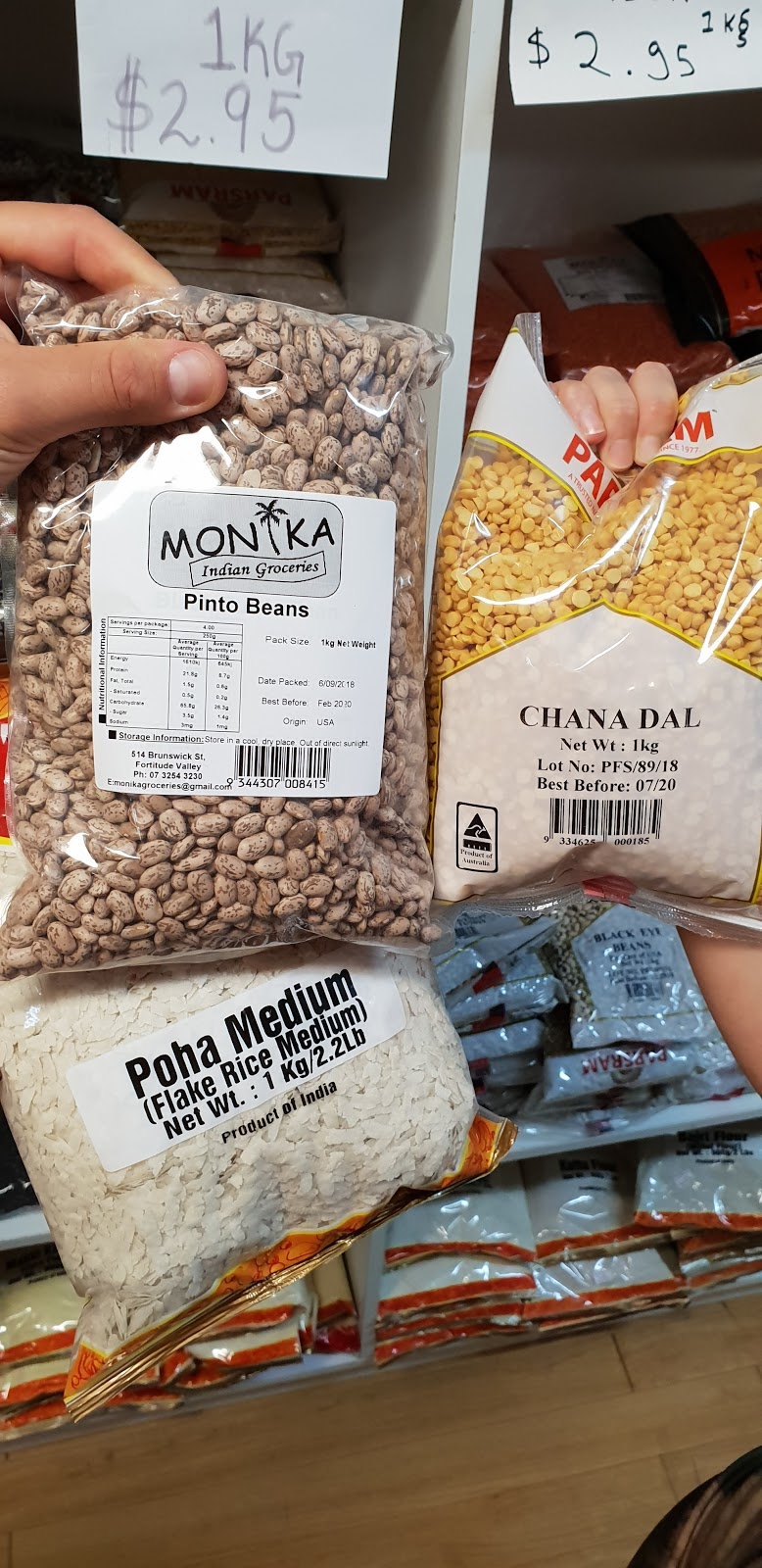 Monika Indian Groceries | store | 1/514 Brunswick St, Fortitude Valley QLD 4006, Australia | 0732543230 OR +61 7 3254 3230