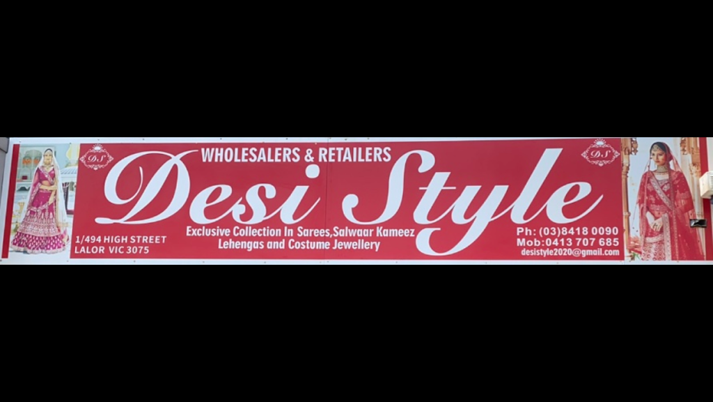 Desi Style by Essence of India | clothing store | 1/494 High St, Lalor VIC 3075, Australia | 0384181116 OR +61 3 8418 1116