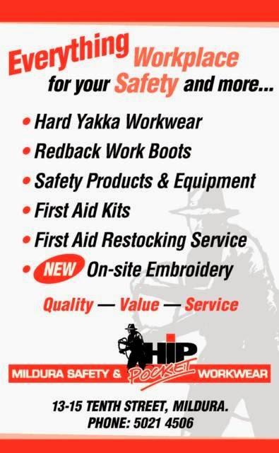 Hip Pocket Workwear & Safety - Mildura | clothing store | 13-15 Tenth St, Mildura VIC 3500, Australia | 0350214506 OR +61 3 5021 4506