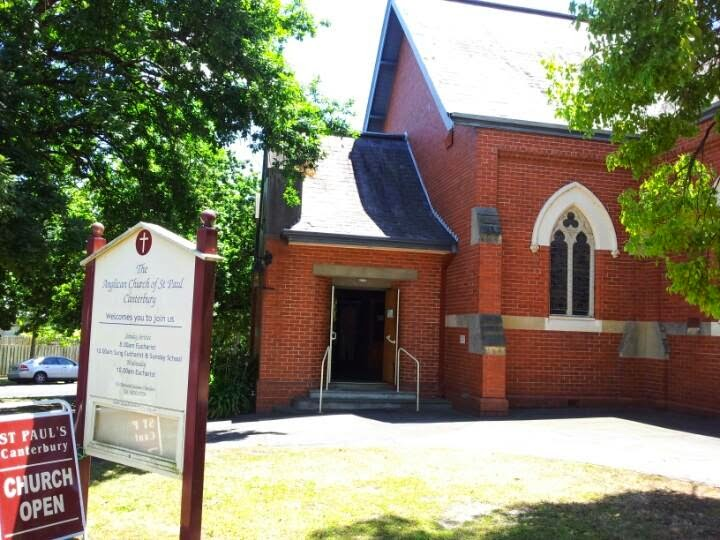 St. Pauls Anglican Church   church   2 Margaret St, Canterbury VIC 3126, Australia   0398300729 OR +61 3 9830 0729