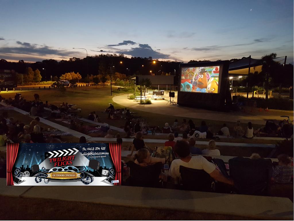 Twilight Flicks Outdoor Cinemas Cleveland | movie theater | William Ross Park, 35-76 Fitzroy St, Cleveland QLD 4163, Australia | 0413374625 OR +61 413 374 625
