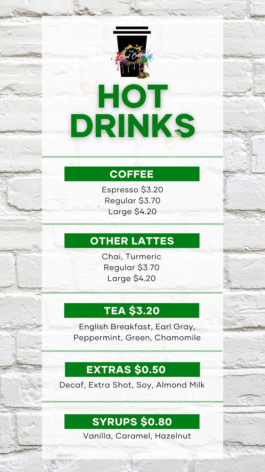 The Street Canteen Liverpool Cafe   cafe   ENTRANCE J, ELIZABETH &, Goulburn St, Liverpool NSW 2170, Australia   0298228876 OR +61 2 9822 8876