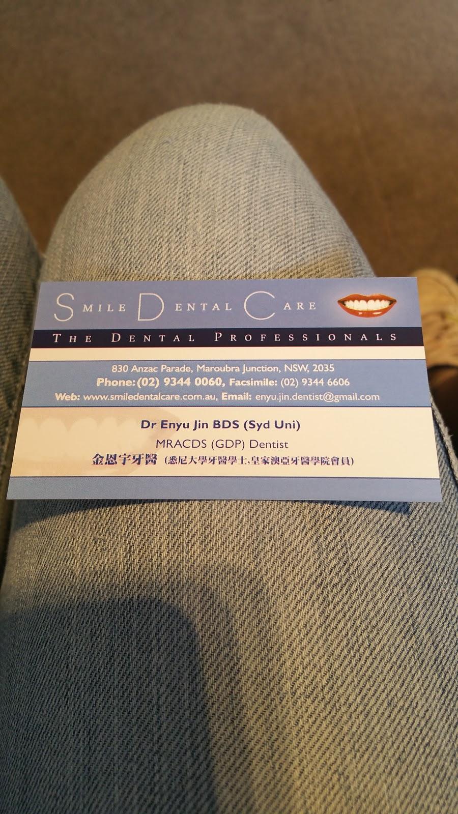 Smile Dental Care - Dr. Jin Enyu   dentist   830 Anzac Parade, Maroubra NSW 2035, Australia   0293440060 OR +61 2 9344 0060