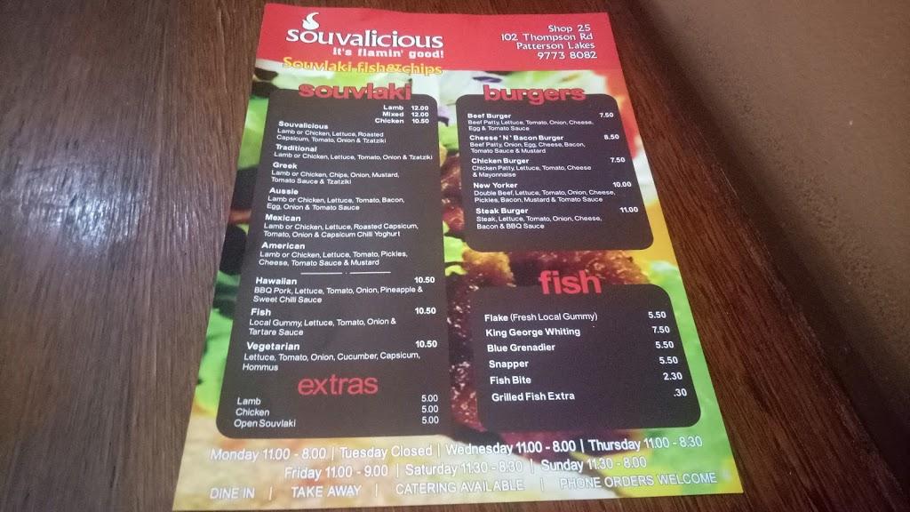 Souvalicious   meal takeaway   102 Gladesville Blvd, Patterson Lakes VIC 3197, Australia   0397738082 OR +61 3 9773 8082
