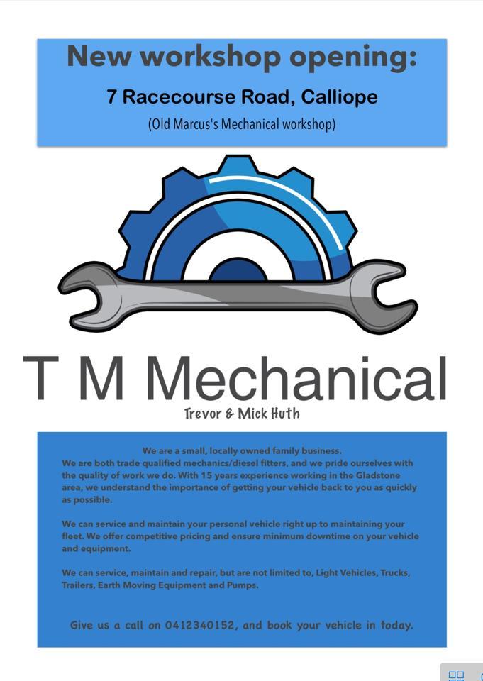 TM Mechanical - Mechanic | car repair | 10 Boys Rd, Gladstone QLD 4680, Australia | 0749755642 OR +61 7 4975 5642