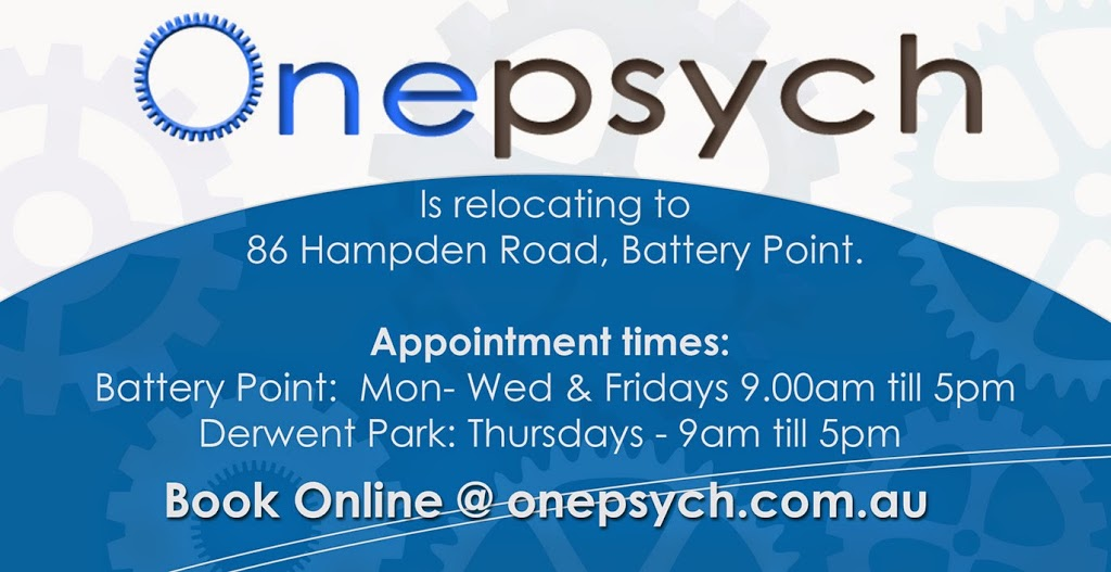 Onepsych Clinical Psychologists | health | 86 Hampden Rd, Battery Point TAS 7004, Australia | 0362353100 OR +61 3 6235 3100