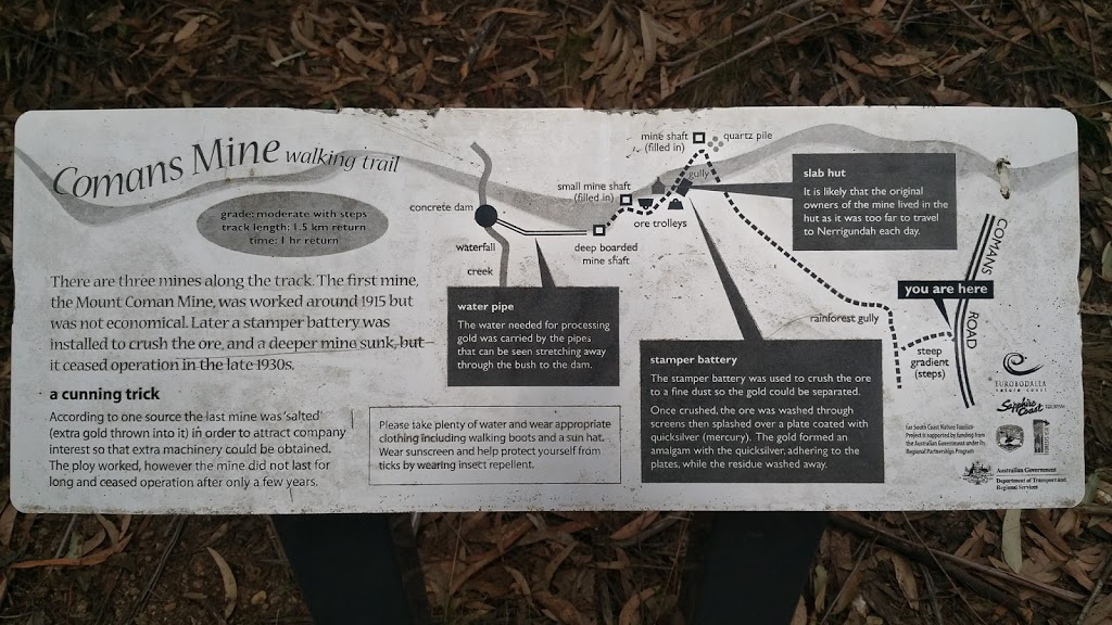 Comans Mine Walking Trail | museum | Comans Rd, Nerrigundah NSW 2545, Australia