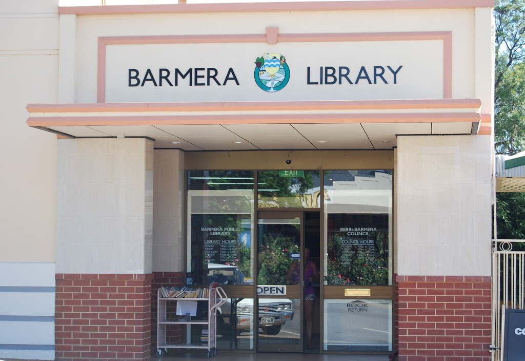Barmera Public Library | library | 4 Barwell Ave, Barmera SA 5345, Australia | 0885882872 OR +61 8 8588 2872