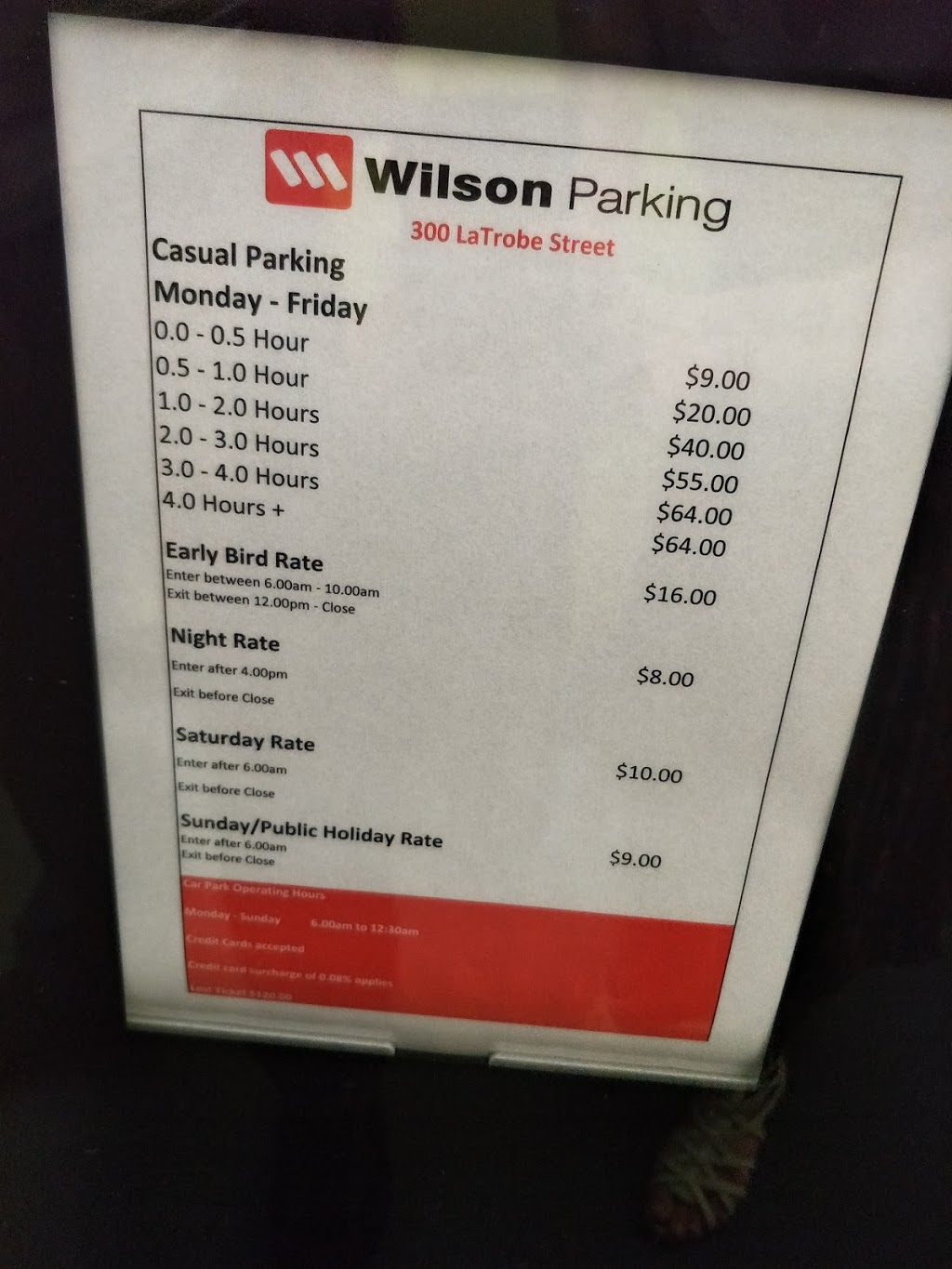 Wilson Parking - 300 La Trobe St | parking | 300 La Trobe St, Melbourne VIC 3000, Australia | 1800727546 OR +61 1800 727 546