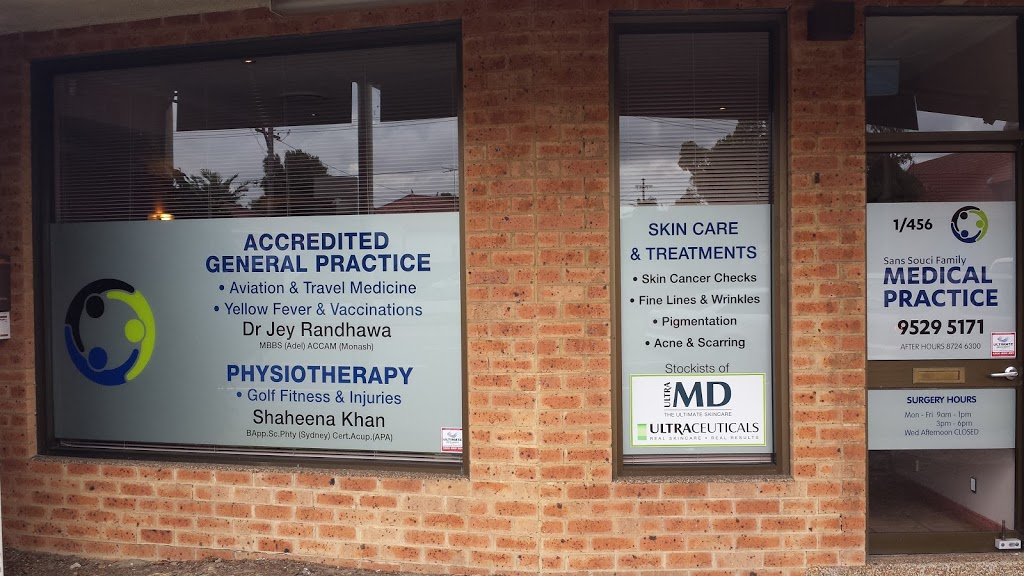 Dr J Randhawa | doctor | 456 Rocky Point Rd, Sans Souci NSW 2219, Australia | 0295295171 OR +61 2 9529 5171