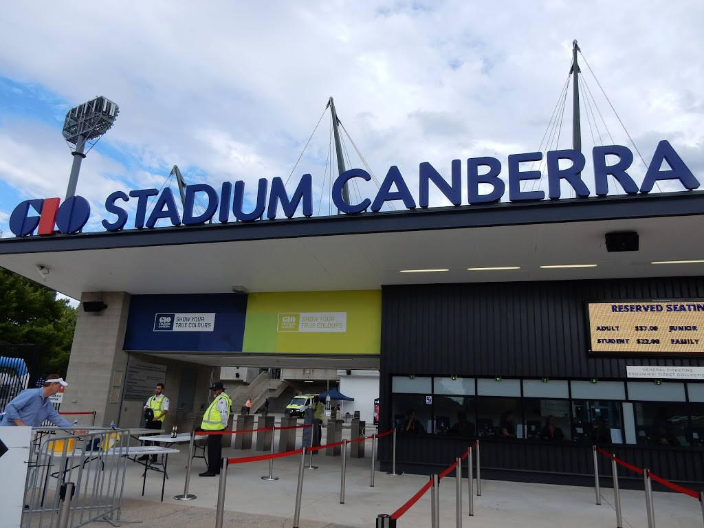 GIO Stadium Canberra | stadium | Battye St, Bruce ACT 2617, Australia | 0262566700 OR +61 2 6256 6700