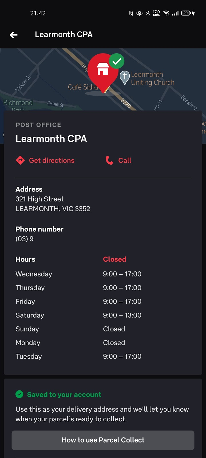 Australia Post - Learmonth CPA | point of interest | 321 High St, Learmonth VIC 3352, Australia | 0353432272 OR +61 3 5343 2272