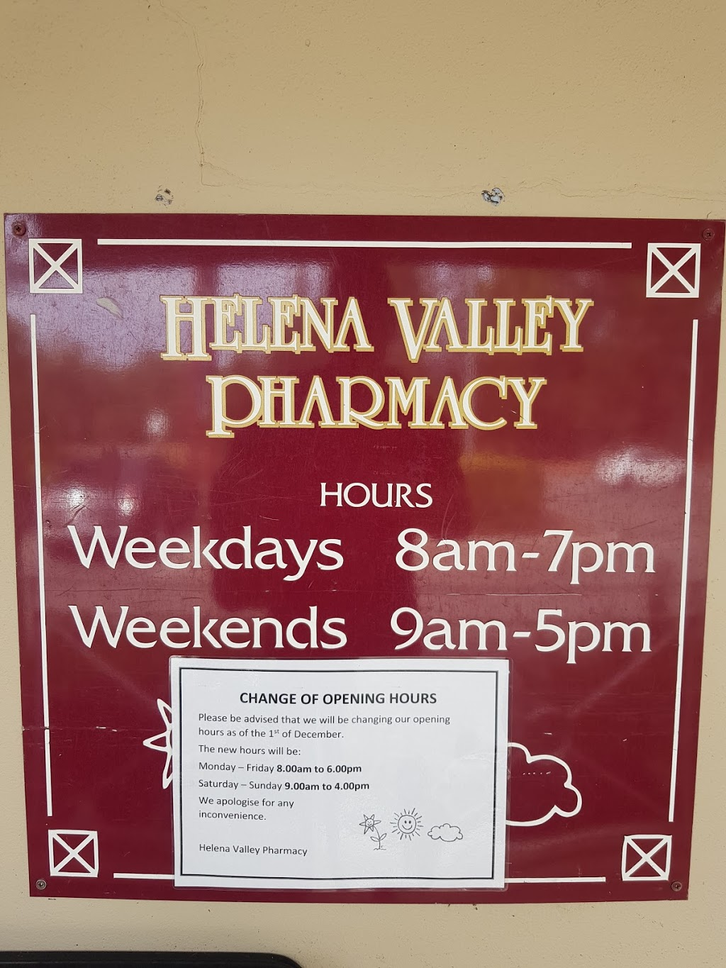 Helena Valley Pharmacy | health | 2/160 Scott St, Helena Valley WA 6056, Australia | 0892551474 OR +61 8 9255 1474