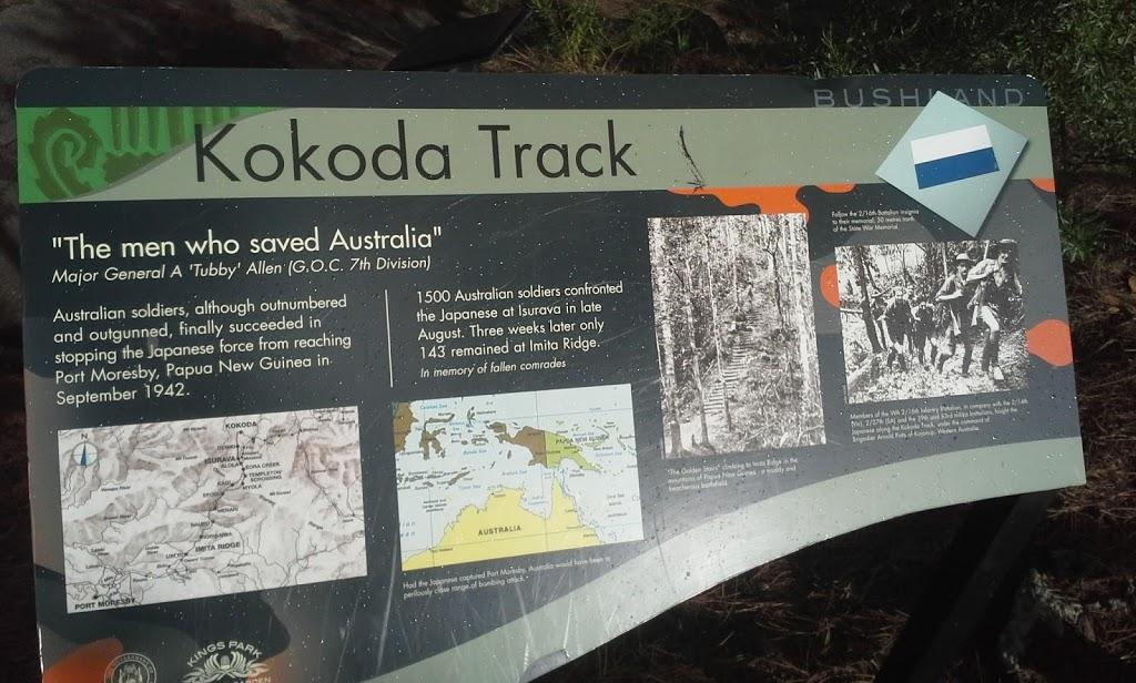 Kokoda Track | park | 171-173 Mounts Bay Rd, Perth WA 6000, Australia | 0894803600 OR +61 8 9480 3600